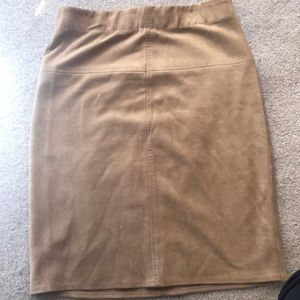 Skirts - Tan suede skirt